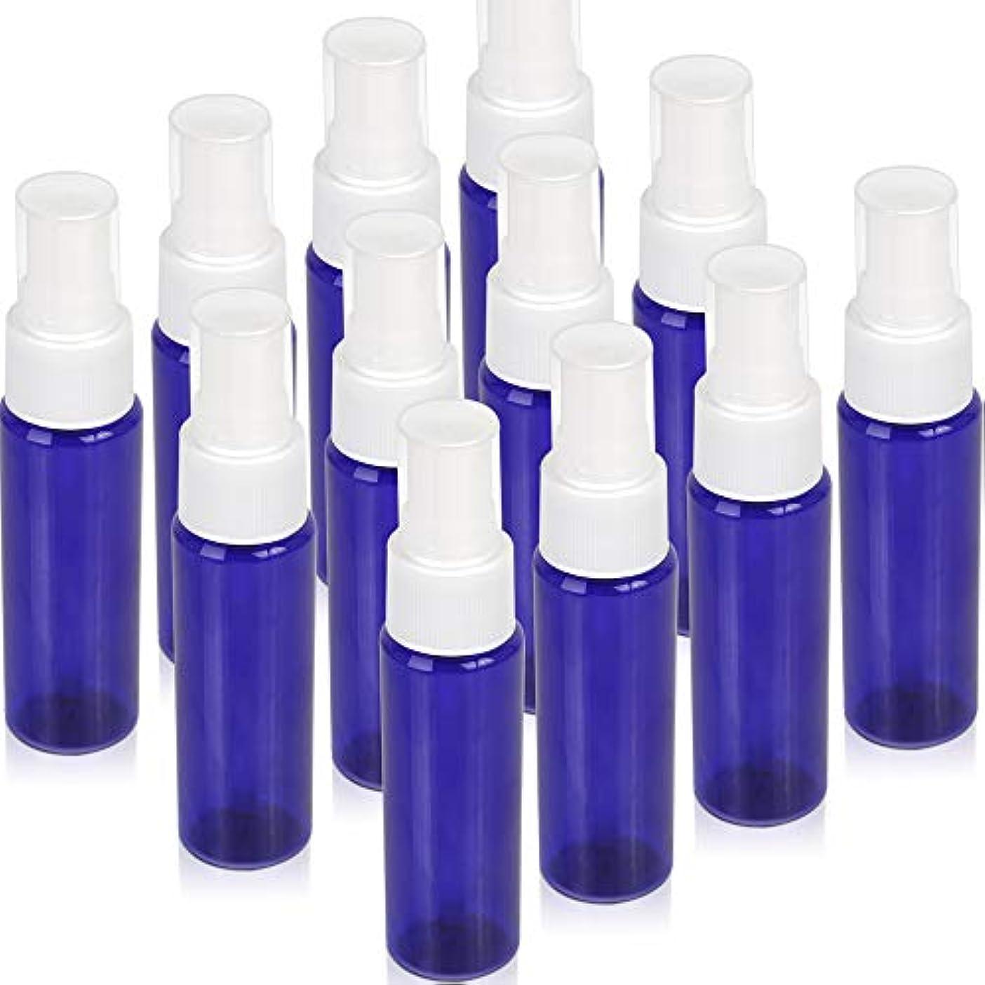 棚アウトドアアフリカ人Teenitor スプレーボトル 30ml 遮光 12本 遮光瓶スプレー スプレー容器 青色 アロマスプレー 香水スプレー 霧吹き アトマイザー 詰め替え容器 キャップ付 PET製