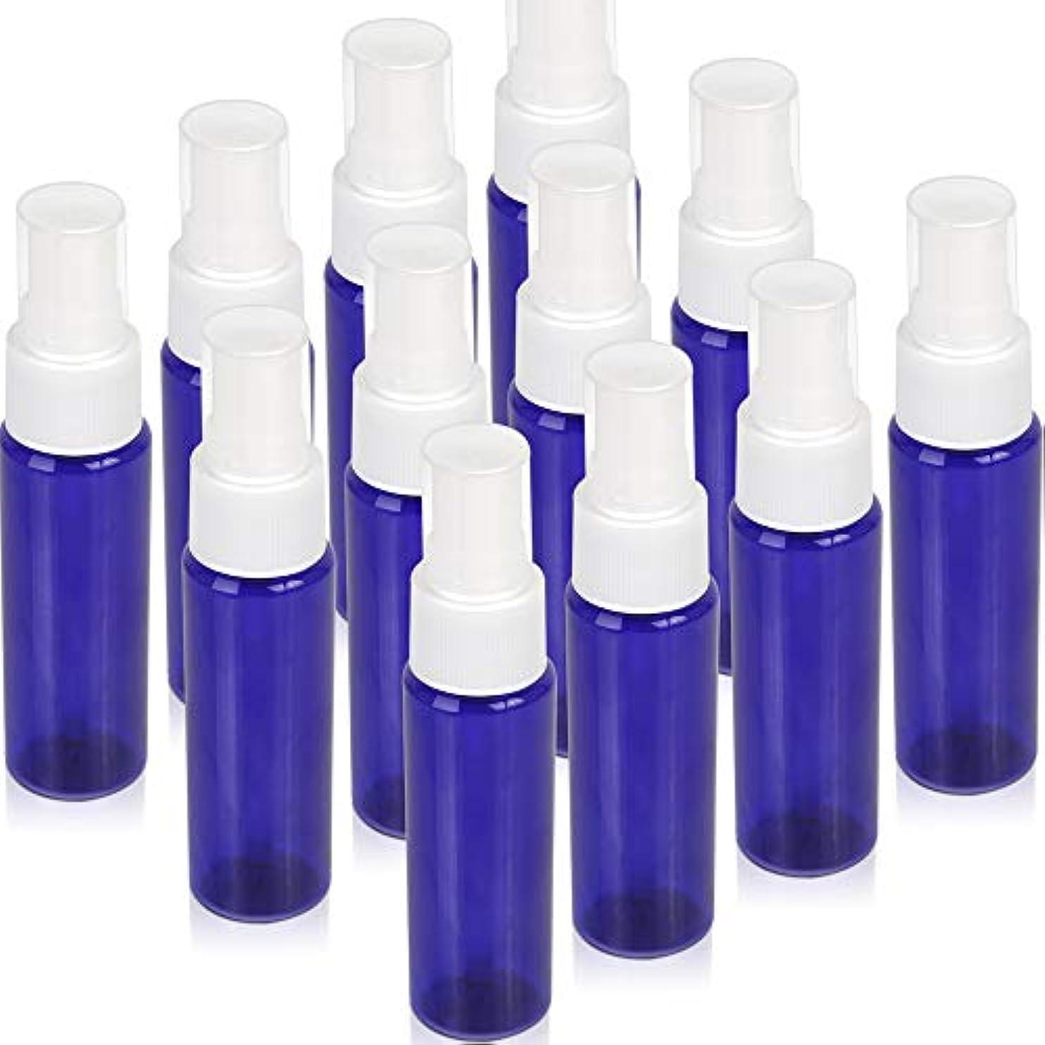 熱意彼ら不満Teenitor スプレーボトル 30ml 12本 霧吹き アトマイザー スプレー容器 アロマスプレー 香水スプレー 詰め替え容器 キャップ付 青色 PET製