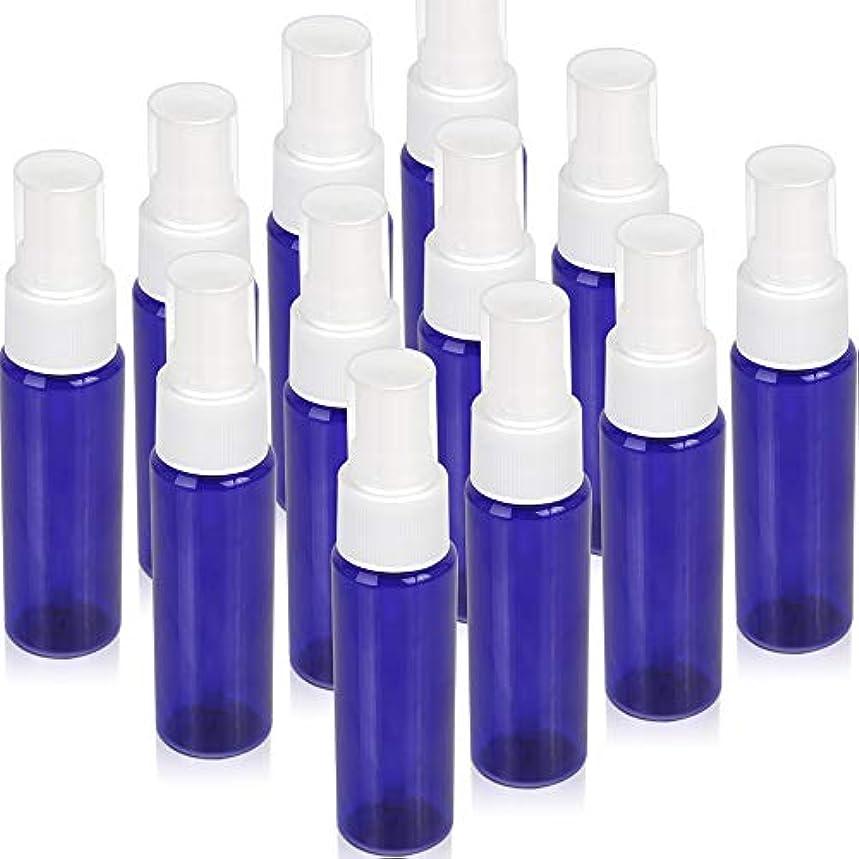 余裕がある妨げる種Teenitor スプレーボトル 30ml 12本 霧吹き アトマイザー スプレー容器 アロマスプレー 香水スプレー 詰め替え容器 キャップ付 青色 PET製