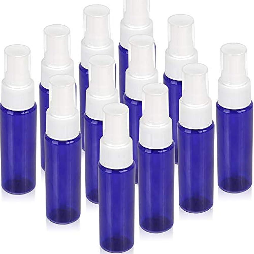 不公平取るに足らない日焼けTeenitor スプレーボトル 30ml 12本 霧吹き アトマイザー スプレー容器 アロマスプレー 香水スプレー 詰め替え容器 キャップ付 青色 PET製
