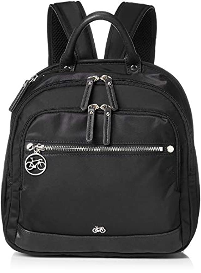 ディスコ専門平らにする[ビアンキ ドンナ] トラベルリュック BDAY-09(ブラック) Viaggio-BDAYシリーズ 13ポケット 軽量 多機能 背面ポケット