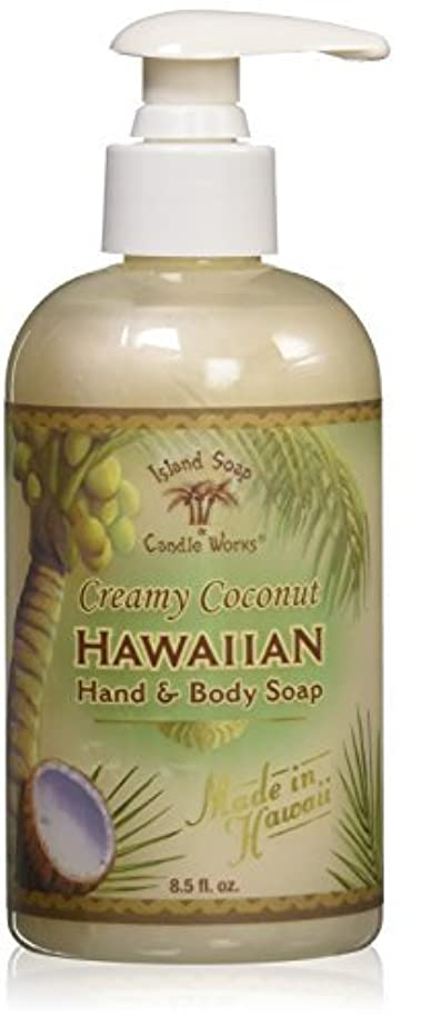 小石スリップシューズ寸前Island Soap & Candle Works Hawaiian Hand and Body Soap Coconut [並行輸入品]