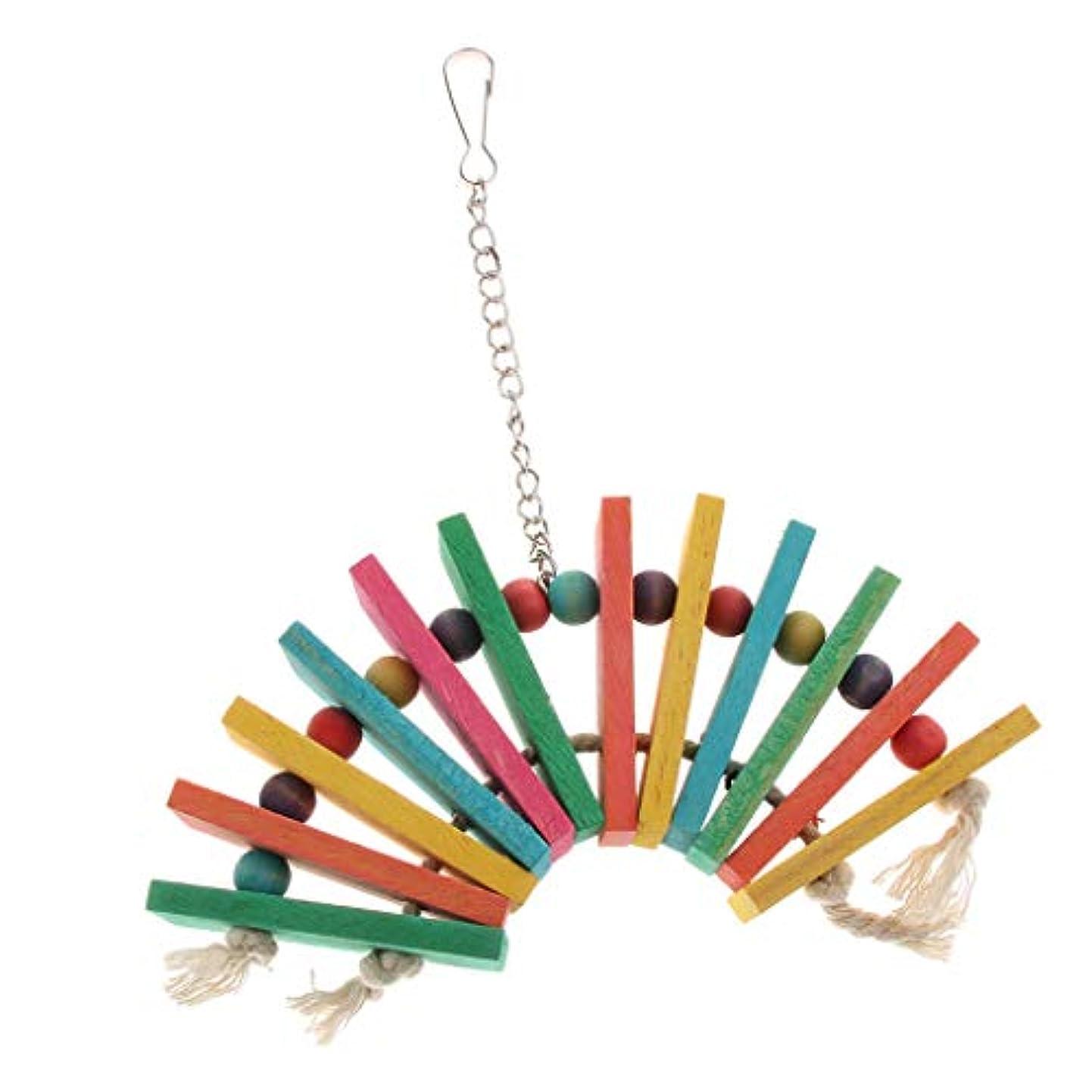 典型的なバット加速度吊り玩具 噛むおもちゃ 遊び場 プラットフォーム ペット用 鳥 オウム ストレス解消 全3種類 - 種類3