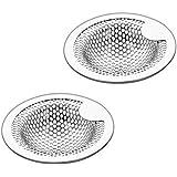 洗面器排水口用 洗面台 パンチング ゴミ受け 2個組 18 – 8ステンレス鋼 排水口サイズ:3.5-4.5cm