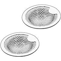 洗面器排水口用 洗面器ゴミ受 洗面台 パンチング ゴミ受け 2個組 18 – 8ステンレス鋼