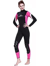 InitialG【イニシャルジー】ウェットスーツ メンズ レディース フルスーツ ダイビングスーツ 3mm 水着 マリンスポーツ 水泳 スイムウエア 008-yr-1028(S ローズ(女) )