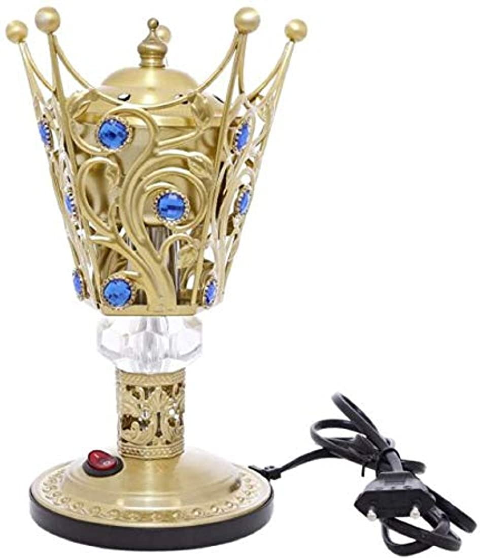 説明する冷淡な限りなくOMG-Deal Electric Bakhoor Burner Electric Incense Burner +Camphor- Oud Resin Frankincense Camphor Positive Energy Gift - WF-027- Golden