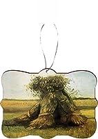Rikki Knight RKWS-SQORN-1446 Van Gogh Art Sheaves2 Christmas Tree Ornament [並行輸入品]