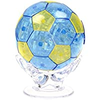 Coolplay 77pcs DIY 3D Crystal Puzzle with Flash Light & Instructions - Soccer Ball Blue 【You&Me】 [並行輸入品]