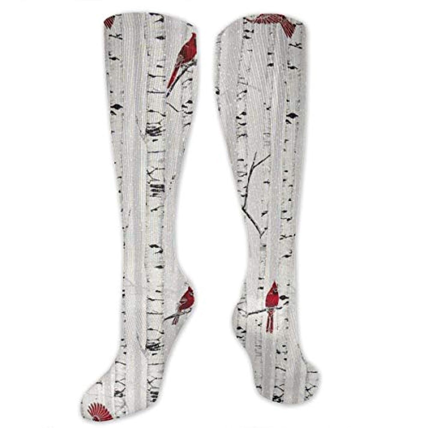 頂点巨人毛細血管靴下,ストッキング,野生のジョーカー,実際,秋の本質,冬必須,サマーウェア&RBXAA Woodsy Winter Cardinals Socks Women's Winter Cotton Long Tube Socks...