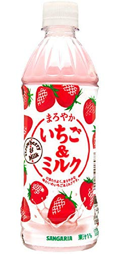 サンガリア まろやかいちご&ミルク 500PET 1ケース24本