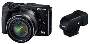 Canon ミラーレス一眼カメラ EOS M3 レンズEVFキット(ブラック) EF-M18-55mm F3.5-5.6 IS STM 付属 M3BK-1855ISSTMLEVFK