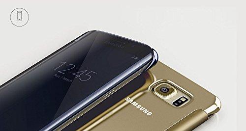 [Samsung純正] Galaxy S6 Edge Clear View Cover - ギャラクシーS6エッジ クリアビューカバー (前面シースルーカバー) (グリーン)