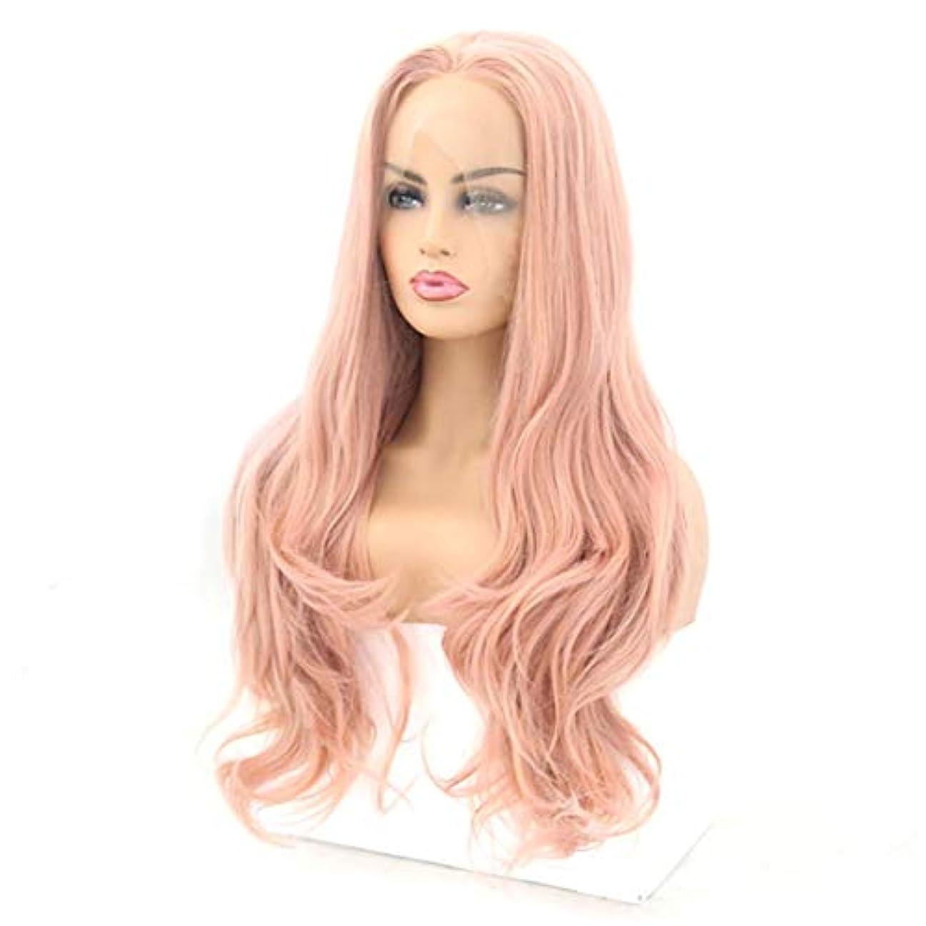 裸なぜ東Kerwinner フロントレースかつら長い巻き毛のかつら合成のカラフルなコスプレ日常パーティーかつら本物の髪として自然な女性のためのかつら