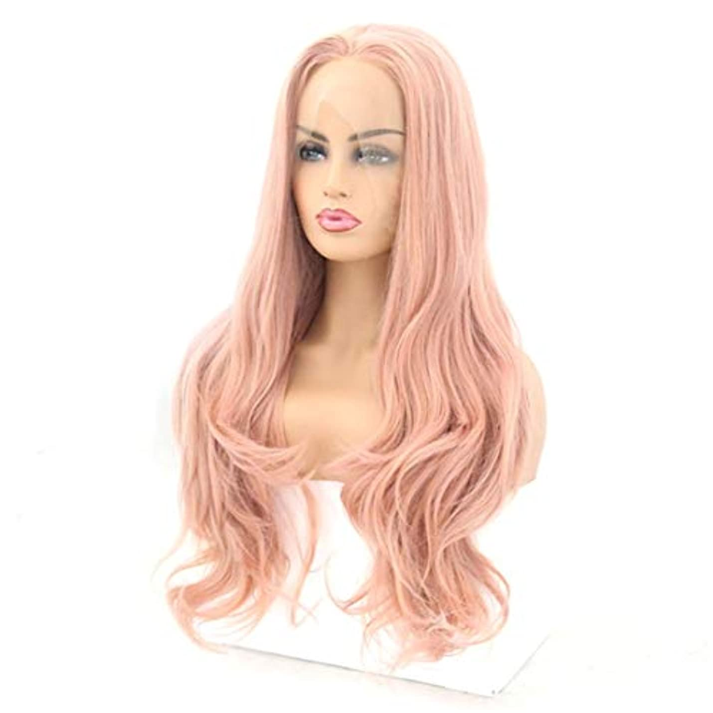 感じびっくり不格好Kerwinner フロントレースかつら長い巻き毛のかつら合成のカラフルなコスプレ日常パーティーかつら本物の髪として自然な女性のためのかつら