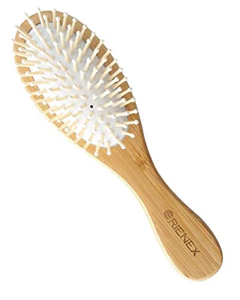 疎外する洞察力のある巨大なOrienex ヘアブラシ 木製櫛 美髪ケア 頭皮&肩&顔マッサージ