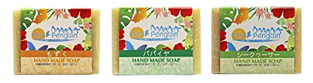 言い換えると発生器別れる手作り洗顔石けん (もずく、パパイヤ、シークヮーサー)