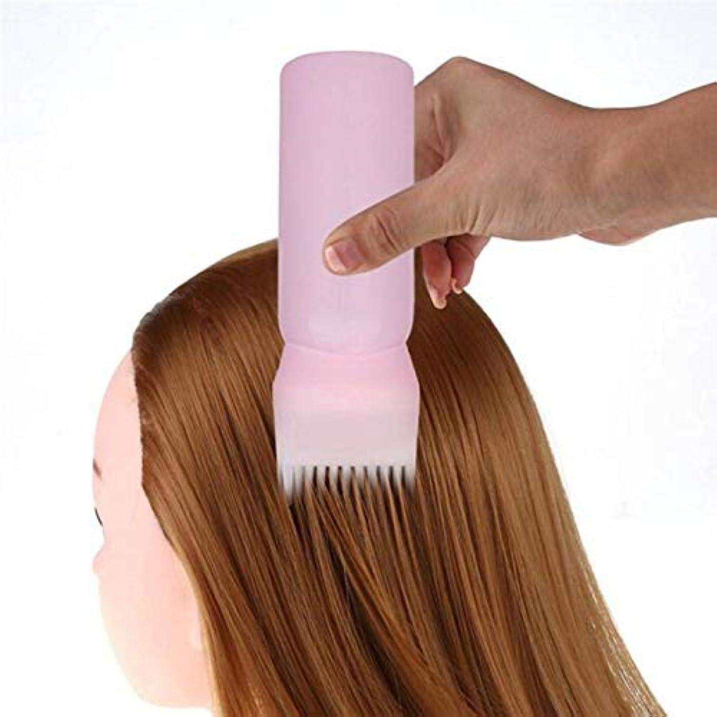 カフェテリアフラッシュのように素早くマザーランドNaliovker 染色シャンプーボトル オイル櫛 120MLヘアツール ヘア染色アプリケーター ブラシ ボトル スタイリングツール 染毛