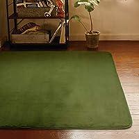 ラグ ラグマット カーペット 1.5畳 約 130×185 cm やわらかなめらか感触のフランネルラグ ラグマット バリエ VARIE グリーン 洗える ホットカーペット対応 こたつ敷き 無地 緑
