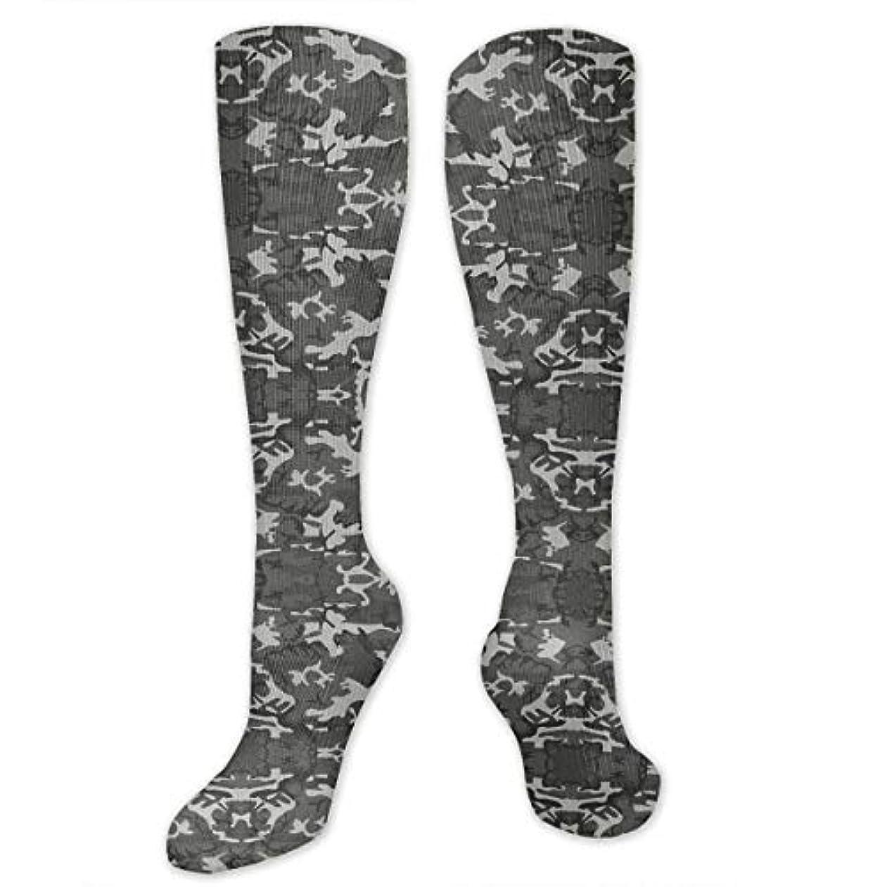 ヶ月目分散破壊的な靴下,ストッキング,野生のジョーカー,実際,秋の本質,冬必須,サマーウェア&RBXAA Mixed Gray Military Camouflage Socks Women's Winter Cotton Long Tube...