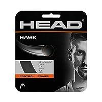 Head Hawk 17g 1.25テニス文字列、ホワイト–2パック