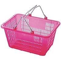 スケルトンミニバスケット 10リットル ピンク 5個
