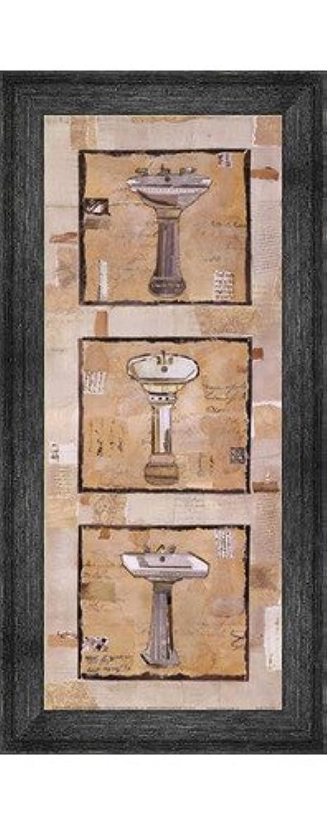 前投薬アイザック高揚したヴィンテージ洗面台II by Kate And Liz Pope – 8 x 20インチ – アートプリントポスター LE_201339-F10588-8x20