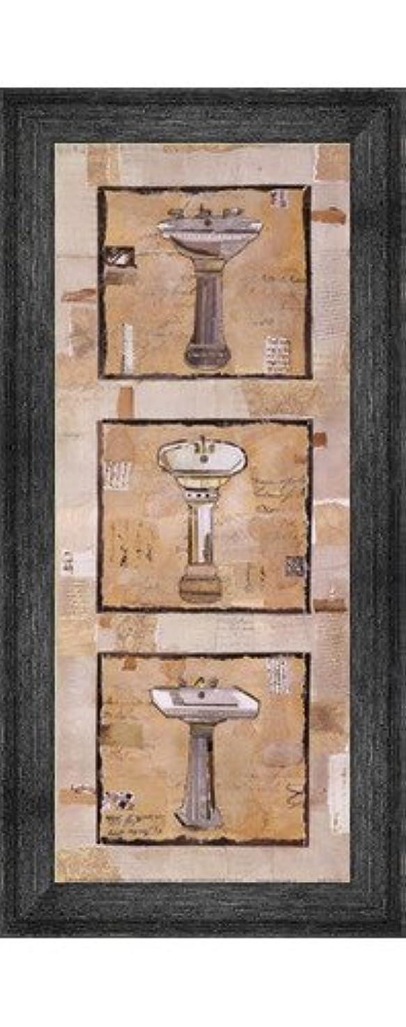 刻むよろしく要塞ヴィンテージ洗面台II by Kate And Liz Pope – 8 x 20インチ – アートプリントポスター LE_201339-F10588-8x20