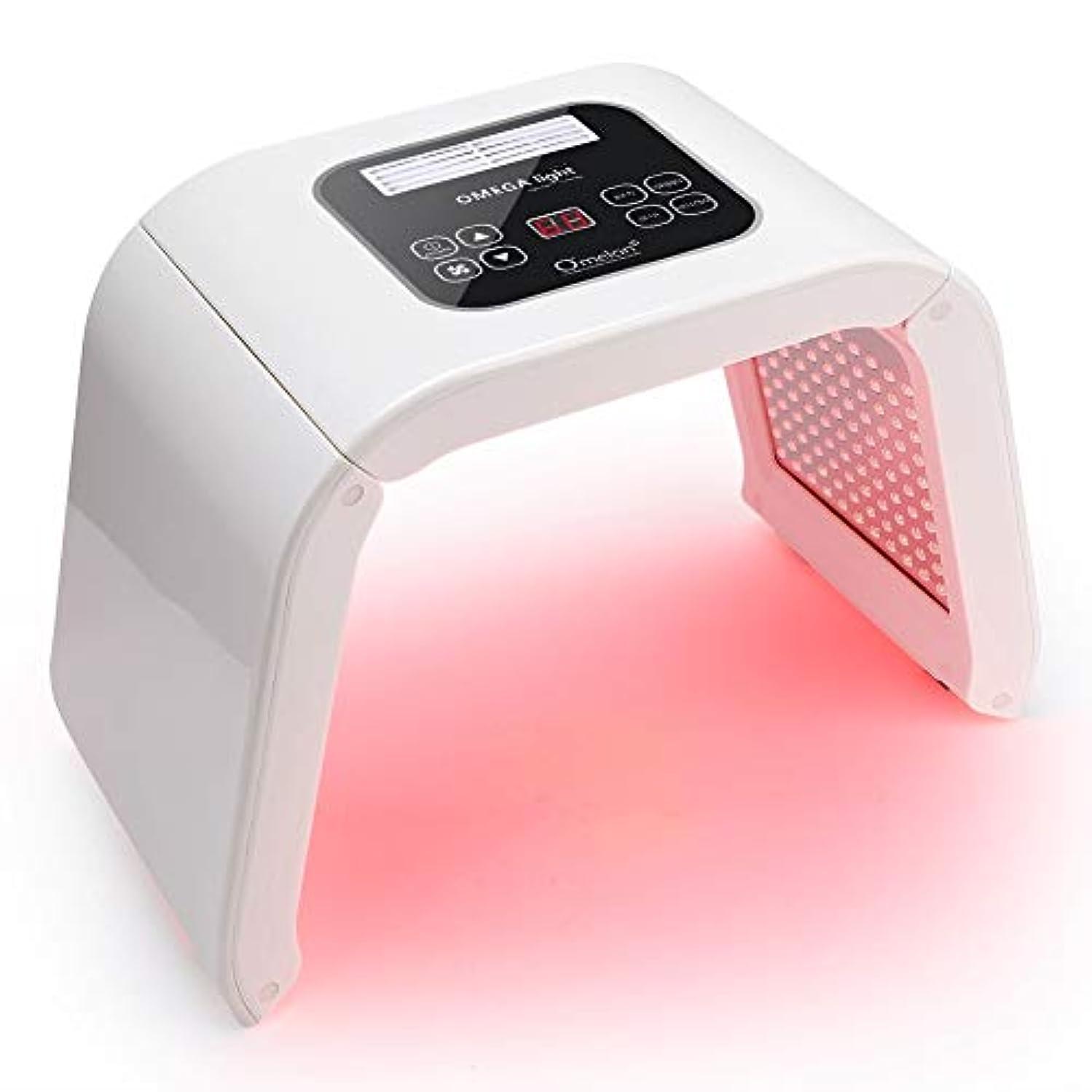 大声で変えるチャンバーにきび治療LEDスキンケアツール、7色PDT LEDライト美容しわ除去フェイスケアマシン改善しわ(US Plug)
