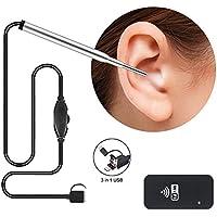 ワイヤレス内視鏡、内視鏡カメラ3.9MM 6調整可能なLEDスリーインワンインターフェイスUSB検査耳鼻咽喉科ビジュアルヘルスケア