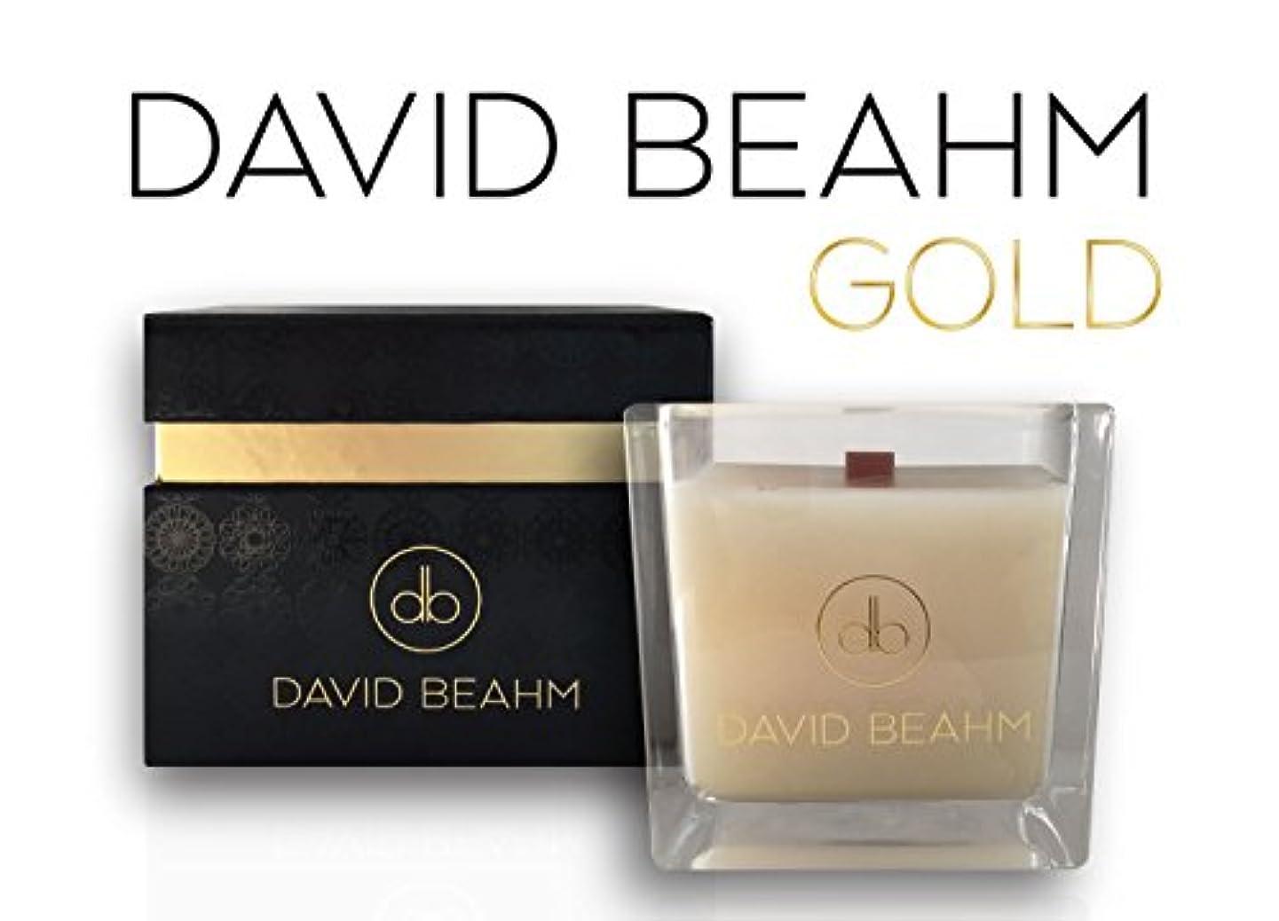ライターじゃない薄いDavid Beahm Scented Candle「ゴールド」でギフトボックス