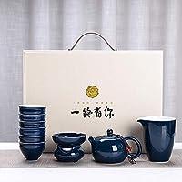お茶セット、中国のカンフーティーセットティーポットカップコーヒーカップギフト旅行ポータブルティーセット、オフィスやリビングルームでの使用に非常に適しています。 (13)