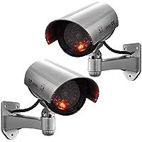 SUGGEST 【2個セット】 ダミーカメラ 防犯カメラ 常時点滅仕様 電池式 /監視カメラ ワイヤレス LED点灯 防犯
