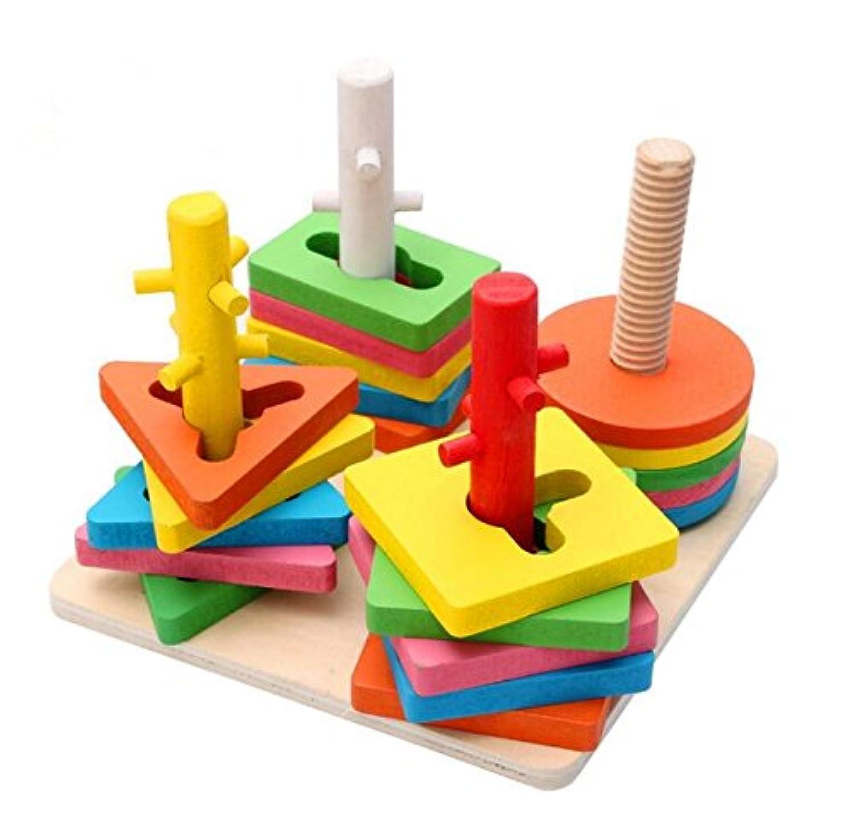 kingseven木製色と形状幾何ソートボードPerfect教育玩具クリスマスギフトIdea