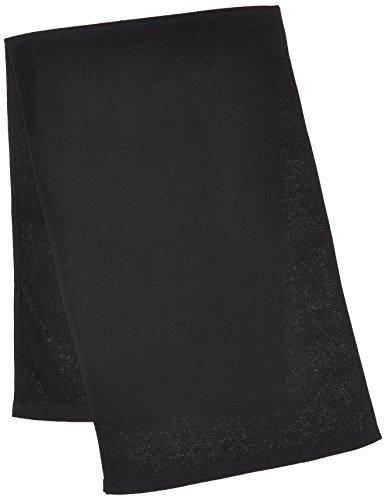 綿ガーゼロングタオル FTー265 黒 1セット(10袋) 福徳産業