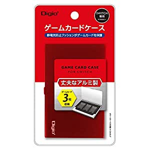Nintendo Switch (ニンテンドースイッチ) 用 アルミゲームカードケース 3枚収納 レッド Z1652