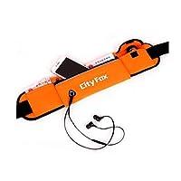 スポーツポケット、男性と女性のランニングバッグ、防水多機能屋外スポーツベルト携帯電話ポケット、マルチカラーオプション (Color : Orange)