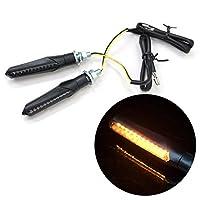 LED シーケンシャルウインカー 左右セット バイク用 汎用 M8/M10兼用 流れるウインカー Eマーク取得