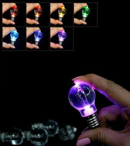 面白い !! LED 電球型 ライト レインボーカラー に ...