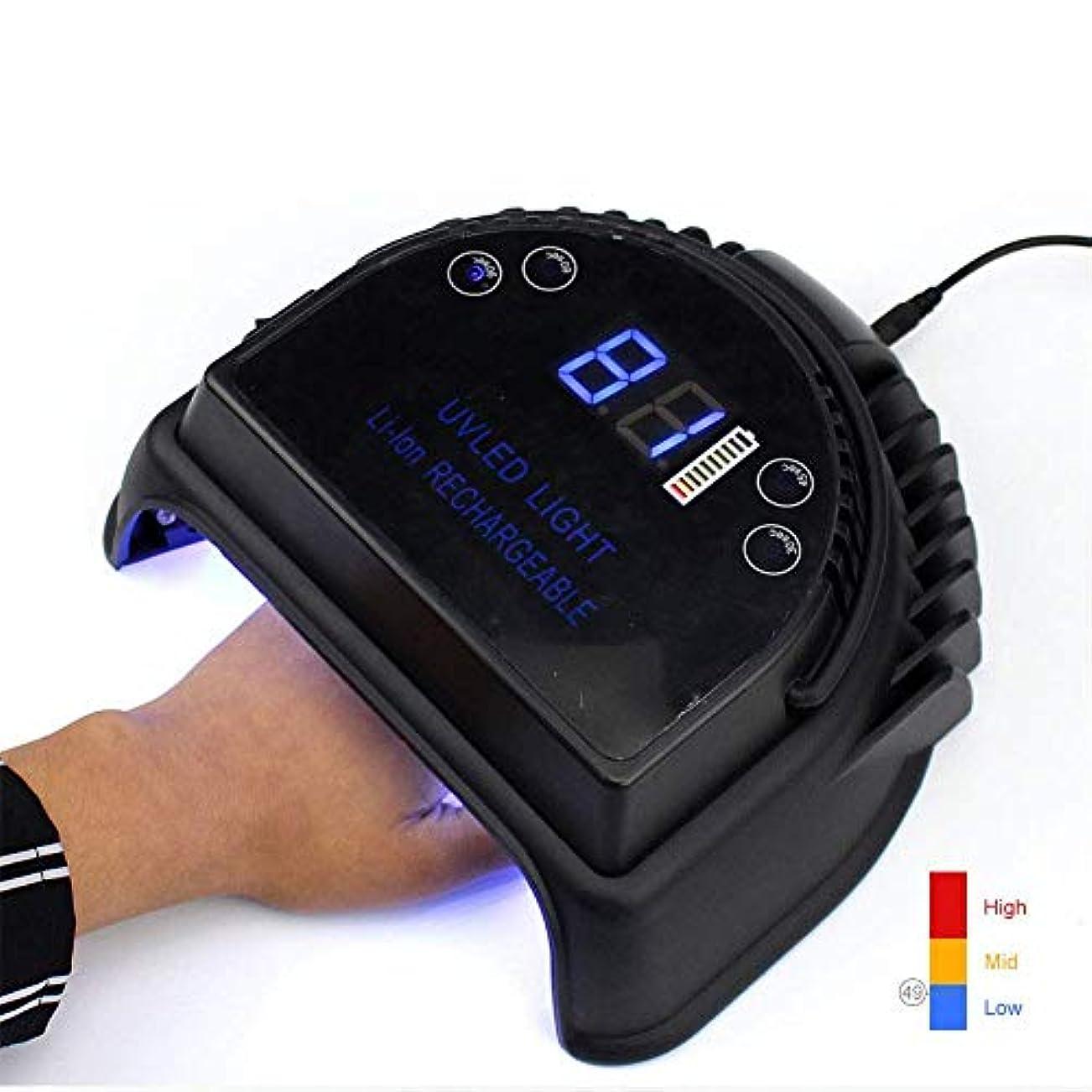 ローブ謎バランスのとれた釘の紫外線のための電池マニキュアの紫外線療法ランプが付いている紫外線Uvのためのランプを導きました,ブラック