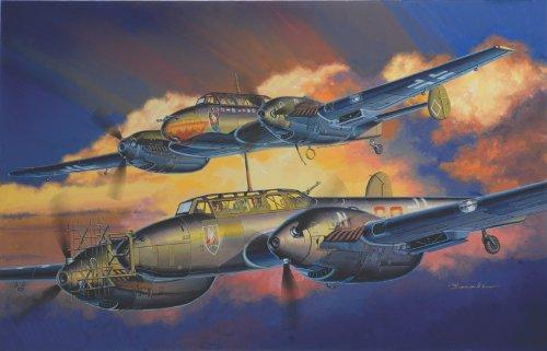 1/32 ドイツ メッサーシュミットBf110 D型/E型 夜間戦闘機 (2 in 1)