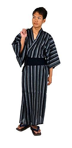 メンズ 浴衣 2点セット( 浴衣/ 角帯 ) カラー3種類 サイズ( M/ L/ LL ) (M, B柄)