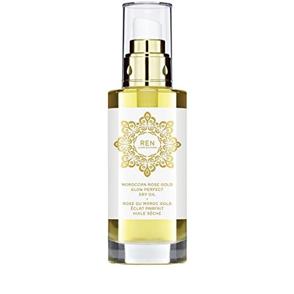 ハンマー振る舞い尽きるモロッコは金が完璧なドライオイル100ミリリットルグローバラ x4 - REN Moroccan Rose Gold Glow Perfect Dry Oil 100ml (Pack of 4) [並行輸入品]