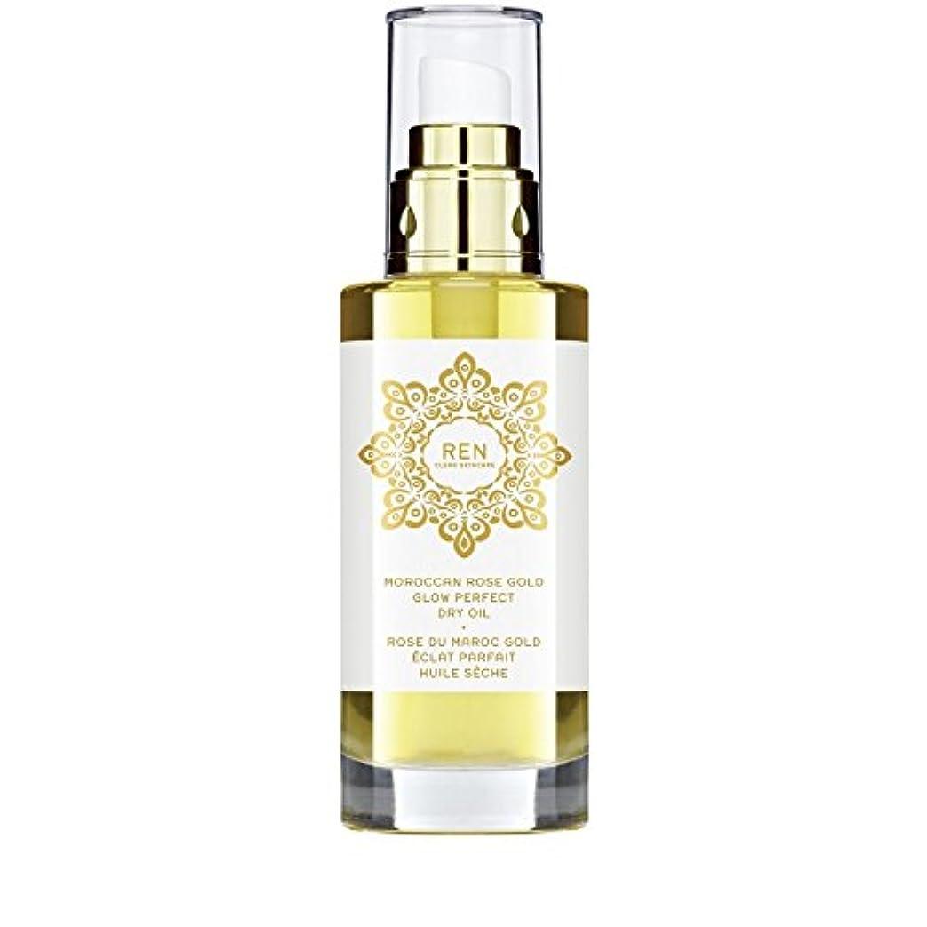 欲求不満歌無モロッコは金が完璧なドライオイル100ミリリットルグローバラ x2 - REN Moroccan Rose Gold Glow Perfect Dry Oil 100ml (Pack of 2) [並行輸入品]