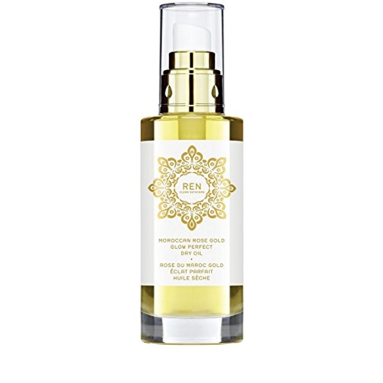 テニスかすれた不利益REN Moroccan Rose Gold Glow Perfect Dry Oil 100ml (Pack of 6) - モロッコは金が完璧なドライオイル100ミリリットルグローバラ x6 [並行輸入品]