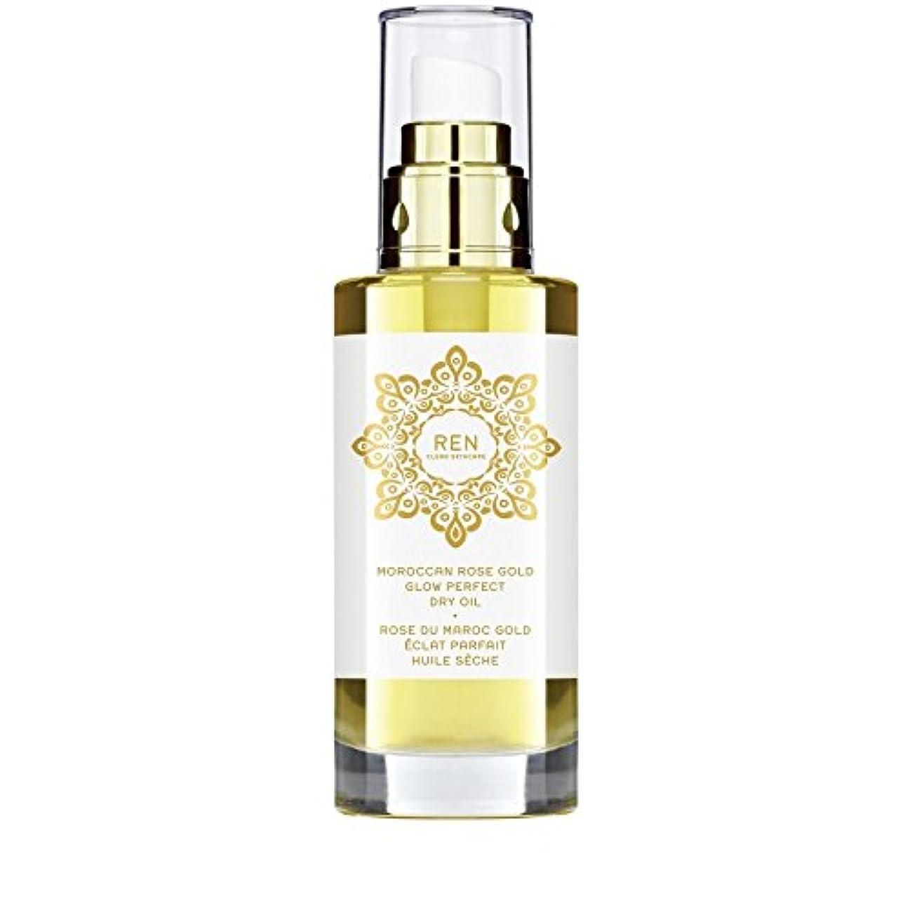 大いに参加する華氏REN Moroccan Rose Gold Glow Perfect Dry Oil 100ml (Pack of 6) - モロッコは金が完璧なドライオイル100ミリリットルグローバラ x6 [並行輸入品]