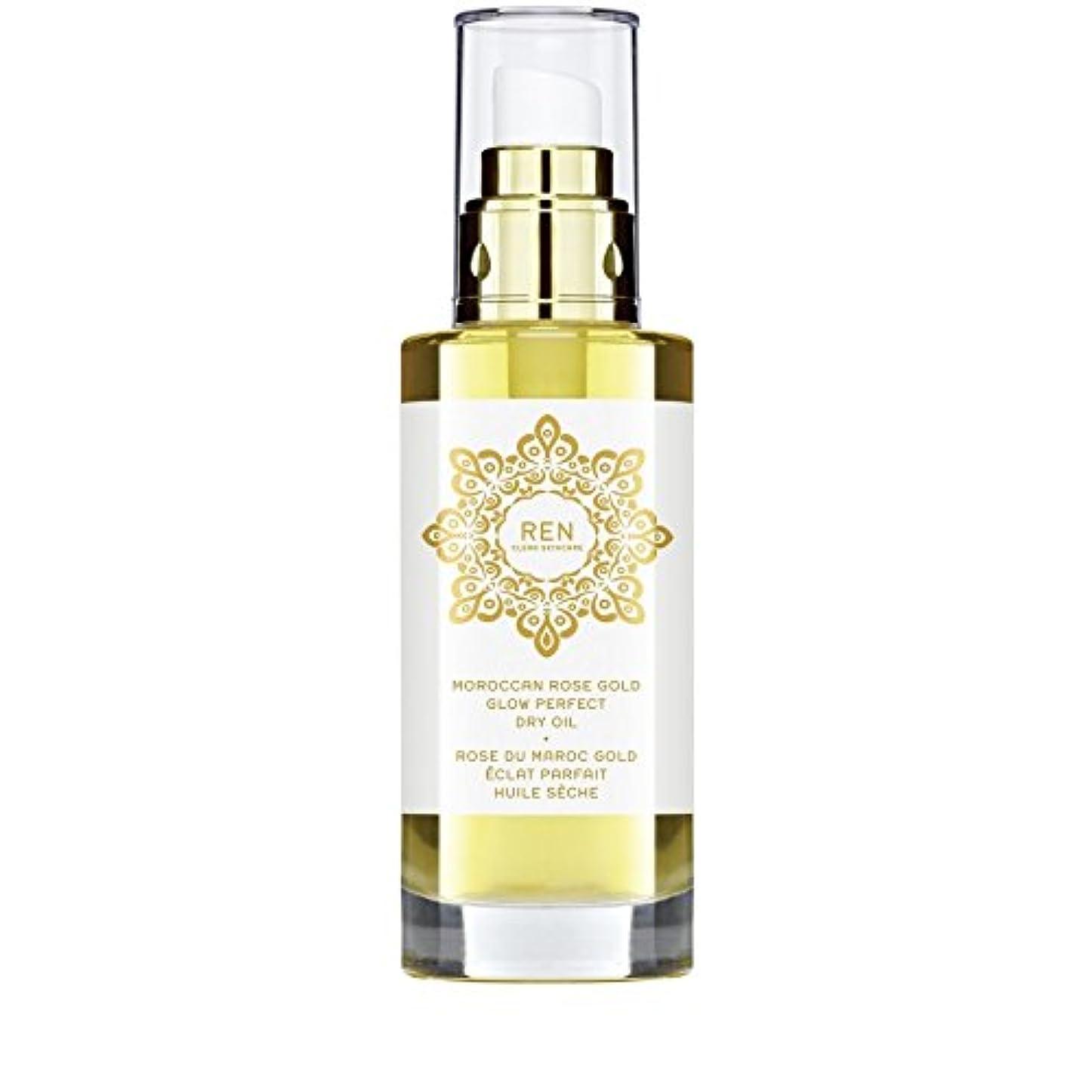 閲覧するキャリッジ選ぶREN Moroccan Rose Gold Glow Perfect Dry Oil 100ml (Pack of 6) - モロッコは金が完璧なドライオイル100ミリリットルグローバラ x6 [並行輸入品]