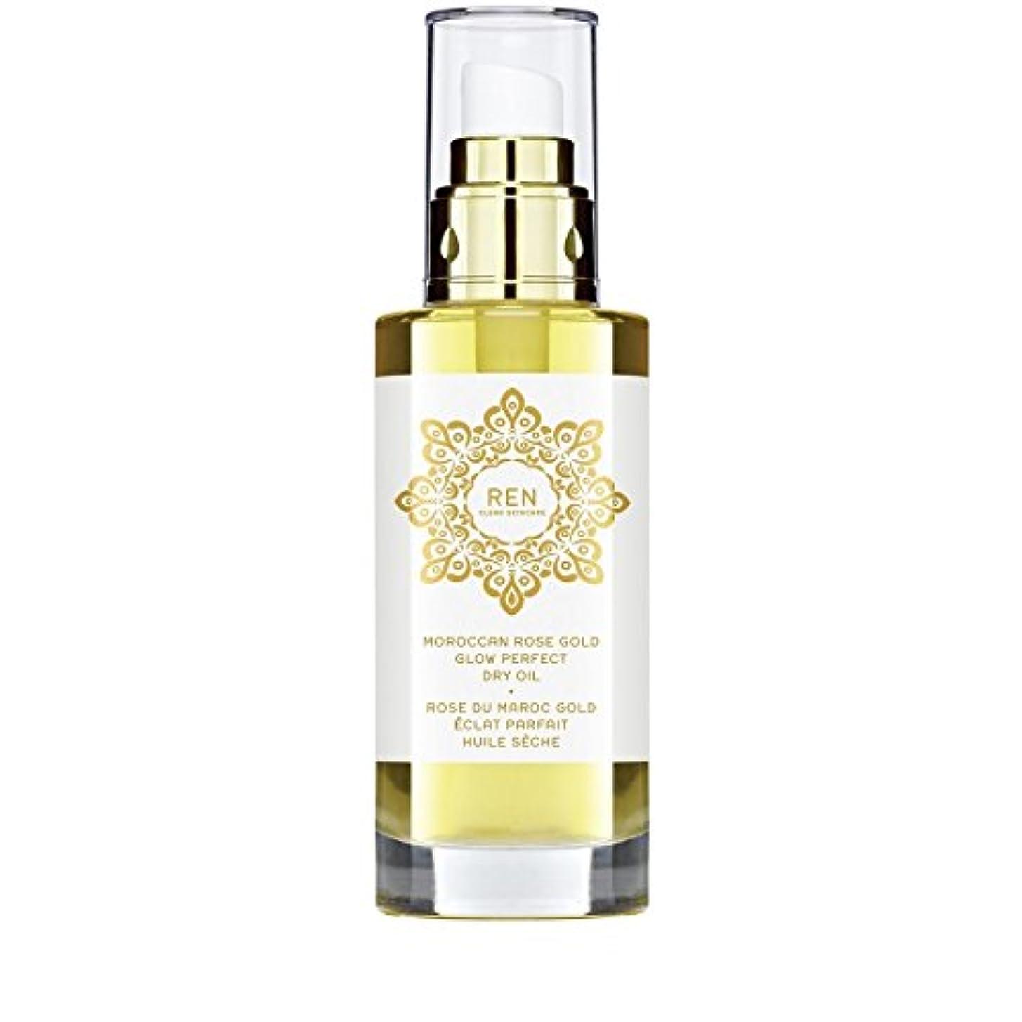 見つけるずんぐりした毎回REN Moroccan Rose Gold Glow Perfect Dry Oil 100ml (Pack of 6) - モロッコは金が完璧なドライオイル100ミリリットルグローバラ x6 [並行輸入品]