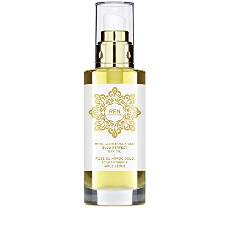 REN Moroccan Rose Gold Glow Perfect Dry Oil 100ml (Pack of 6) - モロッコは金が完璧なドライオイル100ミリリットルグローバラ x6 [並行輸入品]