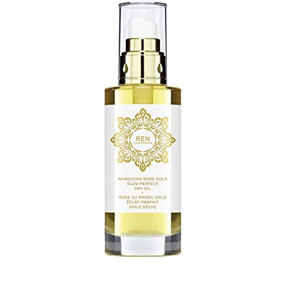 アシスト文句を言う起きているREN Moroccan Rose Gold Glow Perfect Dry Oil 100ml (Pack of 6) - モロッコは金が完璧なドライオイル100ミリリットルグローバラ x6 [並行輸入品]